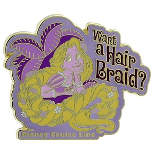 Disney Tangled Pin - Rapunzel want a Hair Braid