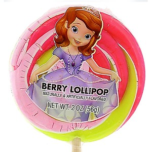 Disney Candy Co. - Sofia the First Princess Berry Lollipop - 2 oz