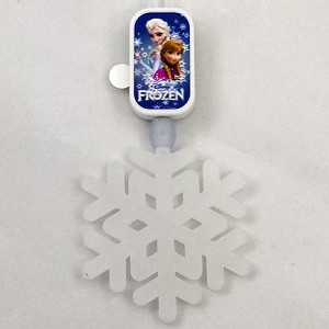 Disney GLOW Necklace - FROZEN - Elsa & Anna with Olaf Snowflake
