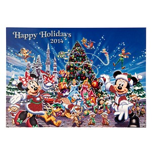 Disney Christmas Cards - Mickey and Friends Happy Holidays 2014