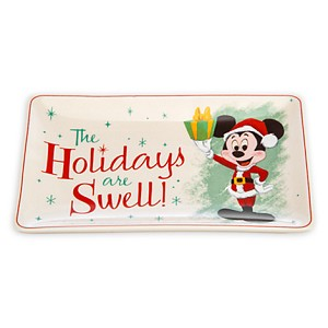 Disney Plate - Retro Mickey - The Holidays are Swell - Small