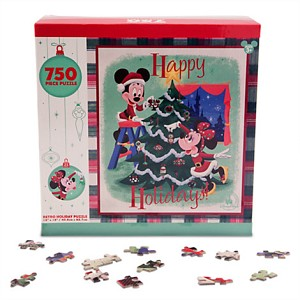 Disney Parks Puzzle - Holiday for your Home - Happy Holidays Retro