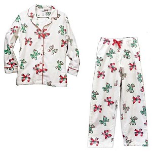 Disney Pajamas and Pants - Christmas Holiday Retro Mickey Bows