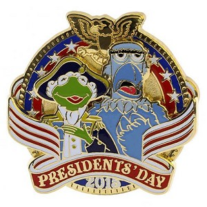 Disney Presidents Day Pin - 2015 Kermit and Sam the Eagle