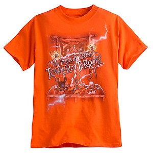Disney Child Shirt - Tower of Terror Ride the Lightning Trio - Orange