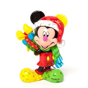 Disney by Britto Figure - Mini Santa Mickey