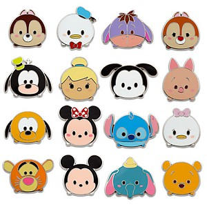 Disney Mystery Pins - Disney Tsum Tsum - Series 1 - Complete 16 Pins