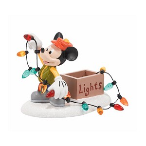 Disney Village Figure - Mickey Lights Up Christmas