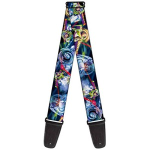 Disney Designer Guitar Strap - Buzz Lightyear - Colorful Action Poses