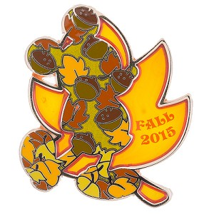 Disney First Day of Fall Pin - 2015 Fall Mickey Mouse