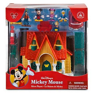 Disney Figurine Set - Mickey Mouse House Micro Play Set