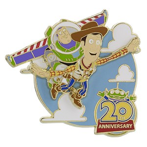Disney Toy Story Pin - 20th Anniversary - Buzz and Woody