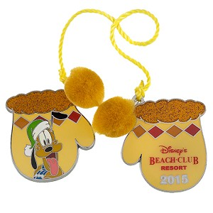 Disney Resort Holidays Pin - 2015 Beach Club Resort - Pluto
