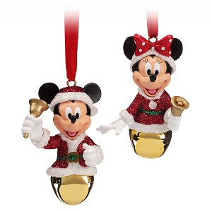 Disney Bell Ornament Set - Santa Mickey & Minnie Jingle Bells