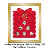 disney very merry christmas party pin 2015 framed pin set - Disney Christmas Party 2015