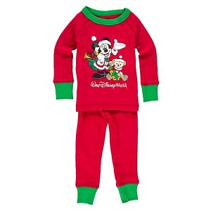disney baby christmas pajamas santa mickey with duffy