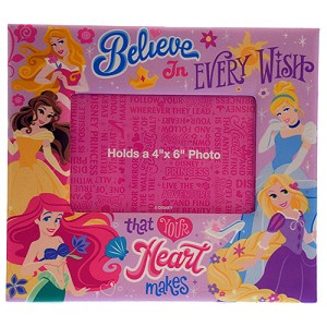 Disney Picture Frame - Princesses  - Believe In Every Wish - 4 x 6