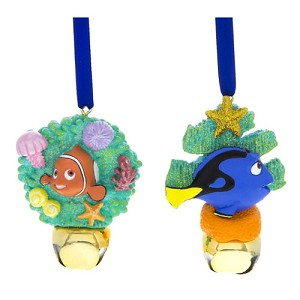 Disney Jingle Bell Ornament Set - Nemo & Dory