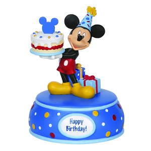 Disney Precious Moments Figurine - Mickey with Birthday Cake Musical
