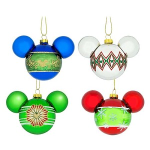 Disney Christmas Ornament Set - Mickey Mouse Ears Icons - GBRS