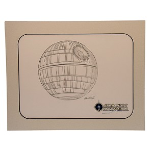 Disney Artist Sketch - Star Wars Half Marathon - Death Star