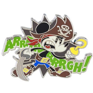 Disney Pin - Pirate Mickey - Arrrrrrrrgh!