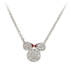 Disney Arribas Necklace - Domed Minnie Mouse Icon Necklace
