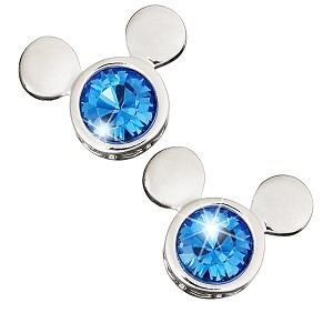Disney Arribas Earrings - Mickey Mouse Icon Stud Earrings - Blue