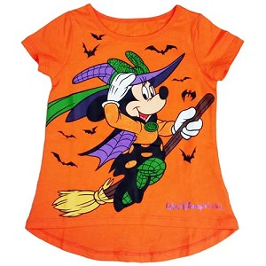 Disney Girl's Shirt - 2016 Halloween - Minnie Mouse Witch