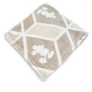 Disney Fleece Throw - Mickey Mouse Silohuettes in Geometric Design