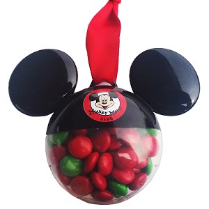 Disney Ears Ornament - Mickey Mouse Club - Chocolate Candy Filled