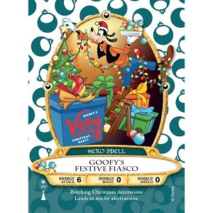 Disney Sorcerers of Magic Kingdom Card - Goofy's Festive Fiasco