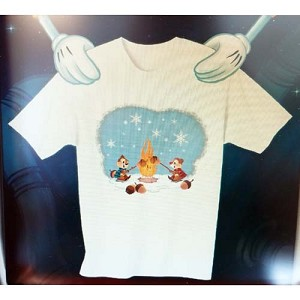 Disney Child Shirt - Christmas Chip and Dale Acorn Roast Holiday Tee