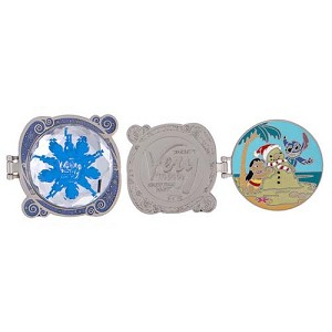 Disney Very Merry Christmas Party Pin - Lilo Stitch Sand Snowman 2016