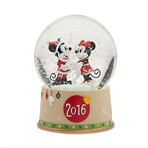Disney Snowglobe - Holiday Mickey and Minnie Mouse - 2016