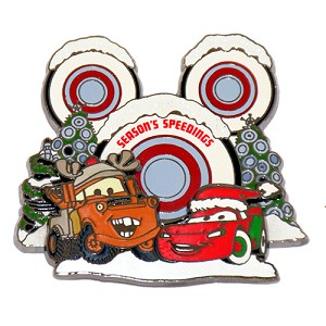 Disney Christmas Pin - Cars - Lightning McQueen and Mater