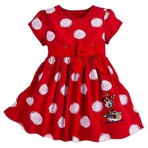 Disney Girls Holiday Dress - Minnie Mouse Polka Dot Dress for Baby