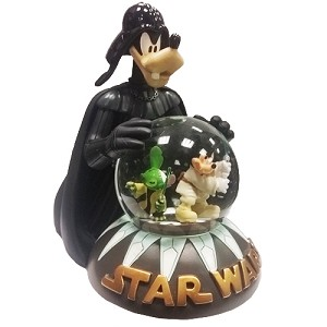 Disney Snowglobe - STAR WARS - Darth Goofy Jedi Mickey Yoda - Light Up