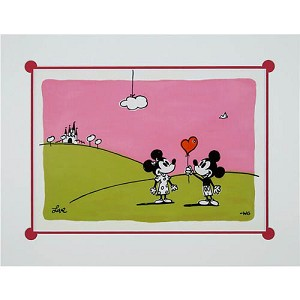 Disney Artist Print - Mickey Loves Minnie by Will Gay