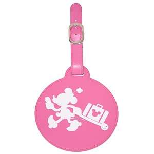 Disney Luggage Tag - Round -Minnie Mouse Running