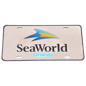 SeaWorld License Plate – Logo - Mirror