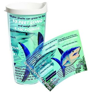 SeaWorld Tervis Tumbler -  Guy Harvey Exclusive - Mako Statistics