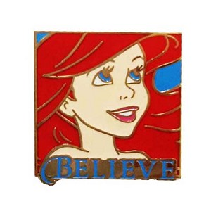Disney Mystery Pin - Princess 2016 - Ariel - Believe