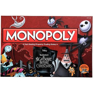 Disney Board Game - Monopoly - The Nightmare Before Christmas Edition