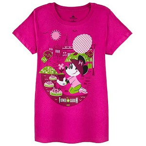 Disney Ladies Tee - 2017 Epcot Flower and Garden Minnie Gardening