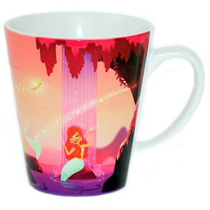 DIsney Coffee Cup - Peter Pan Mermaid's Lagoon Ceramic Cup