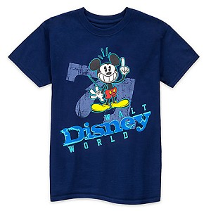 "Disney Child Shirt - Mickey Mouse ""71"" Tee - Blue"