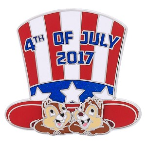 Disney Independence Day Pin - 2017 Chip and Dale - Fourth of July
