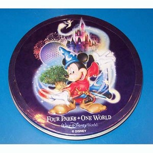 Disney Collectible Tin - Sorcerer Mickey Mouse - Where Magic Lives - Disc Tin