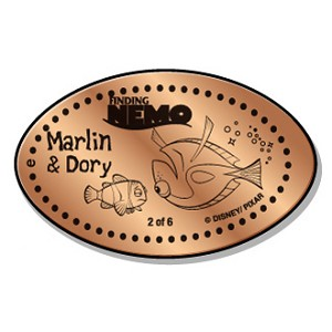 Disney Pressed Penny - Finding Nemo - Marlin & Dory